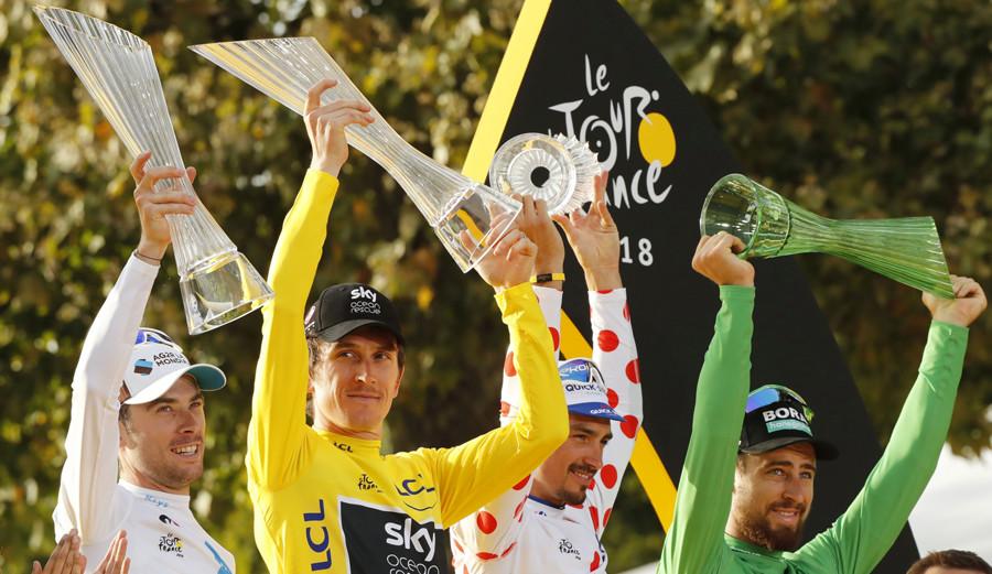 c4514c3b39 Geraint Thomas (TEAM SKY): como cada año Oakley es la marca de gafas para  ciclismo predominante entre los ciclistas, quizás por su trayectoria dentro  de ...